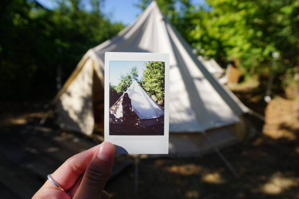 tipi tents on our camping