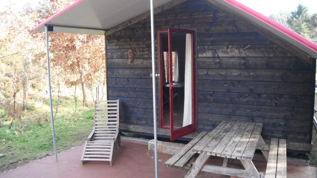 Cabins on our camping in North Portugal